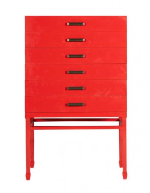 Polished Red Gloss Cabinet