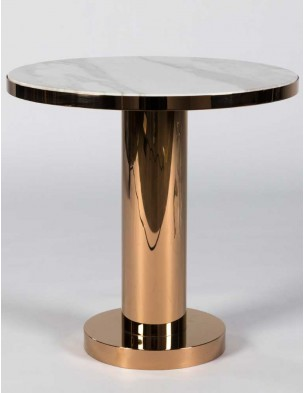Rose Marble Side Table