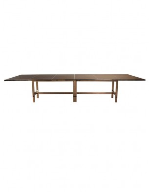 Leather Rose Gold Dining Table