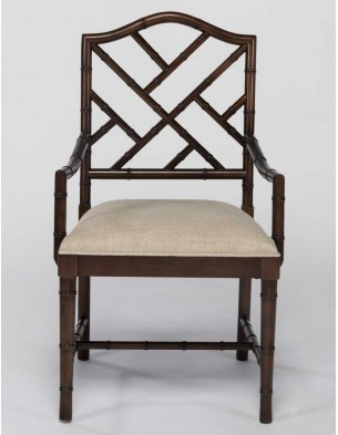 BAMBOO STYLE DINING ARM CHAIR