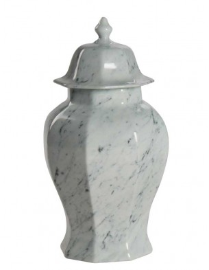 White marble porcelain container