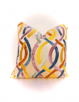 Route Pattern Colored Cushion