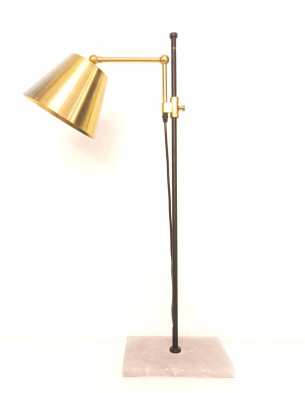 Alabaster Industrial Table Lamp