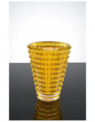 crystal vase : Small : gold