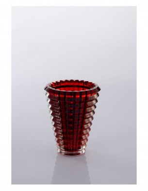 crystal vase : Small :  Red