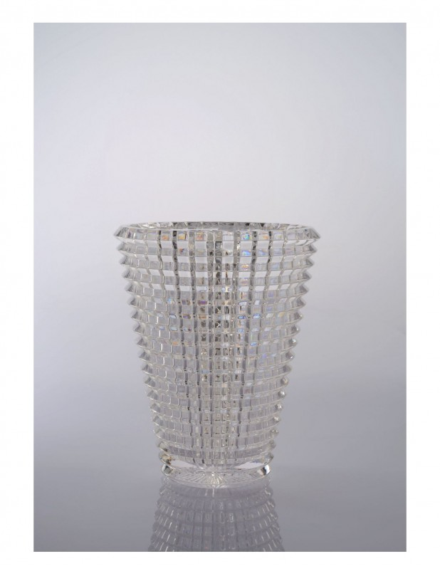 crystal vase : Small : clear